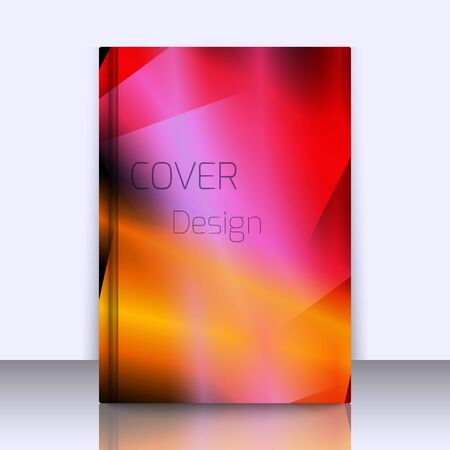 booklet design: Abstract background for booklet with glowing colorful geometric shapes. Geometrical pattern for covers, banners, booklets and other design uses. For web or printed media.