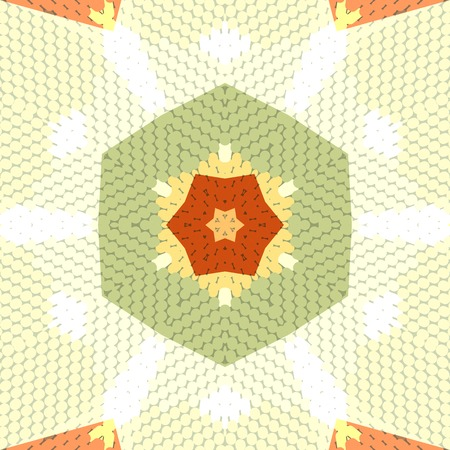 oriental rug: Flat ethnic seamless pattern. Colorful geometrical ornament tiles. For different design uses, as wallpaper, pattern fills, web page background, surface texturesm for print and dalle production.
