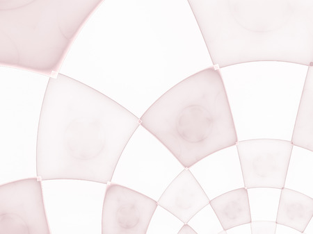 distinct: Abstract composition with circular checkered pattern. Colorful decorative texture for use in design projects as background or as distinct design element. Radial movement of colors and shapes. Stock Photo