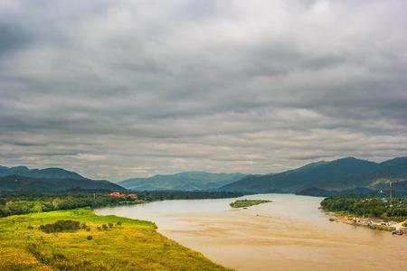 khong river: View of The Mae khong river in Chiangsaen, Chiangrai in Thailand