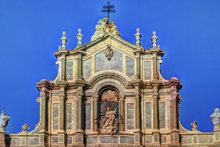catania: Facade of Cathedral of Santa Agatha, Catania duomo in Catania in Sicily, Italy.