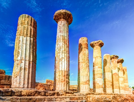 Heracles Temple, Temple Valley, Agrigento, Sicily Stock Photo