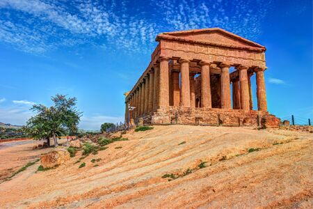concordia: The famous Temple of Concordia in the Valley of Temples near Agrigento, Sicily