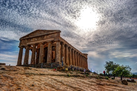 agrigento: The famous Temple of Concordia in the Valley of Temples near Agrigento, Sicily
