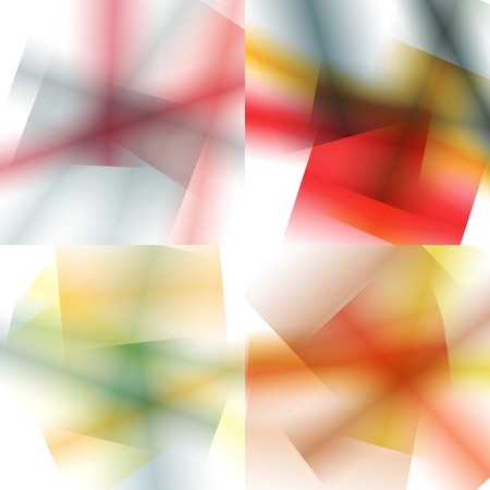 Set of colorful backgrounds with soft gradients and lines. Abstract texture with blurred and geometrical shapes. Stylish desighn element.