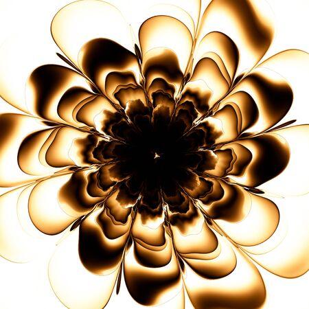 Macro closeup of fractal flower, digital artwork for creative graphic design