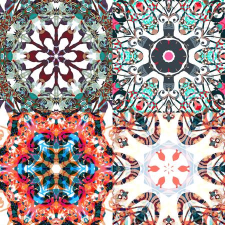 patchwork: Gorgeous seamless patchwork patterns. Illustration