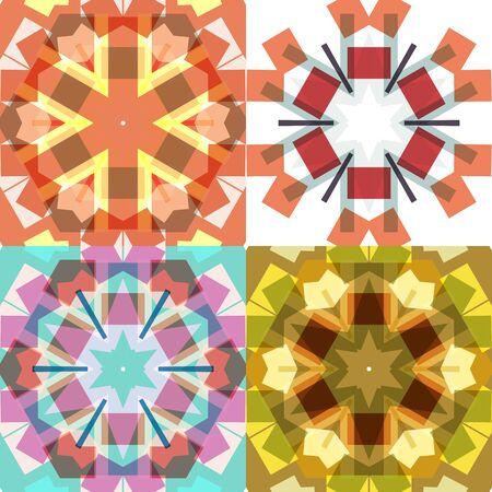 flat: Flat ethnic seamless patterns. Illustration