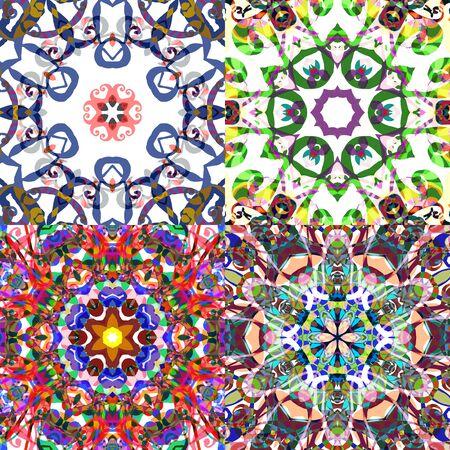 gorgeus: Gorgeous seamless patchwork patterns. Illustration