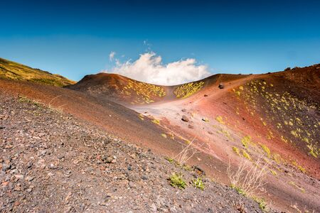 Landscape of Etna volcano, Sicily, Italy.