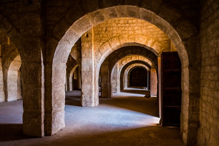 Empty space on fortress of Sousse. Stock Photo