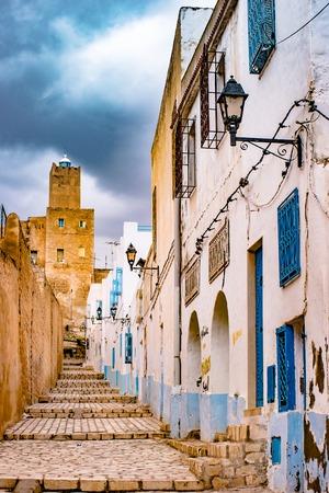 street in Medina in Sousse, Tunisia.