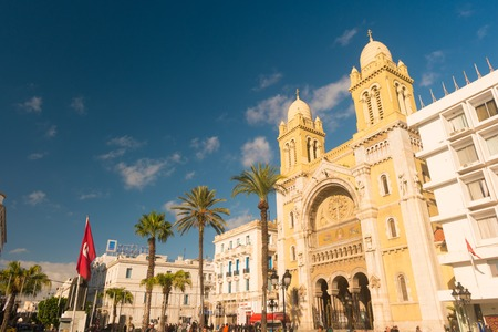 The catholic Cathedral in Tunisia, Tunis.