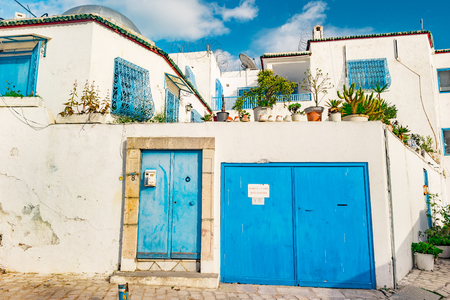 Sidi Bou Said, famouse village with traditional tunisian architecture.