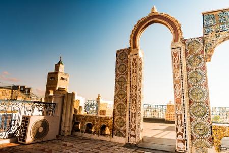 Skyline of Tunis at dawn.