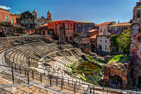 Oude Romeinse theater in Catania