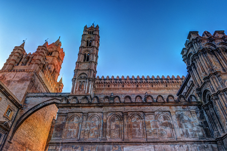 The beautiful cathedral of Palermo, Sicily