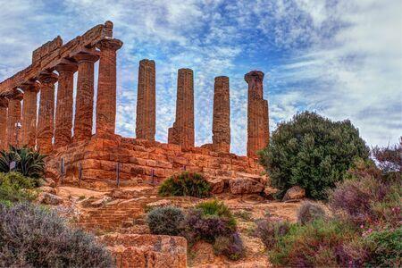 Temple of Juno - ancient Greek landmark in the Valle dei Templi