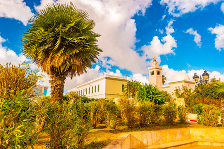 View in Tunis with white architecture Stock Photo