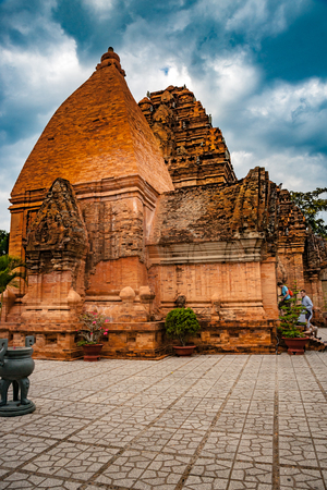 The towers of Po Nagar near Nha Trang in Vietnam Stock Photo