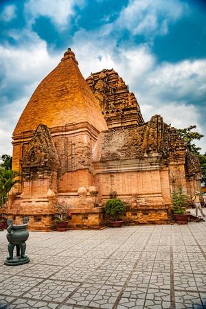 The towers of Po Nagar near Nha Trang in Vietnam Stock Photo