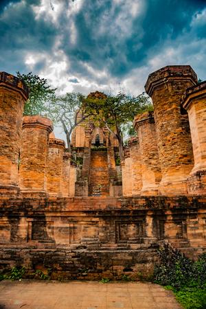 linga: The towers of Po Nagar near Nha Trang in Vietnam Stock Photo