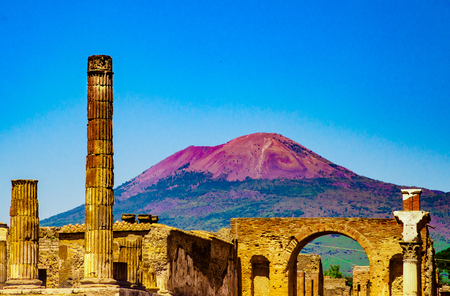 The famous antique site of Pompeii, near Naples.