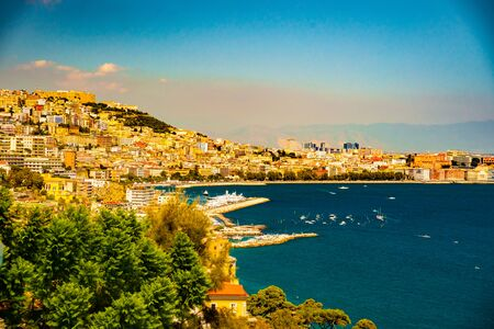 seafronts: Naples bay scenic view, Italy.
