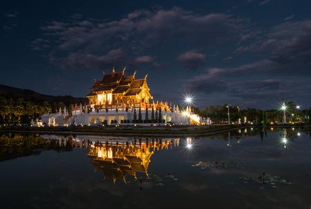 monastic: Royal Flora temple Chiang Mai, Thailand