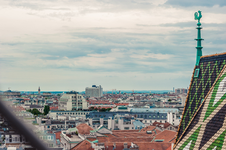 innere: Aerial view over the rooftops of Vienna