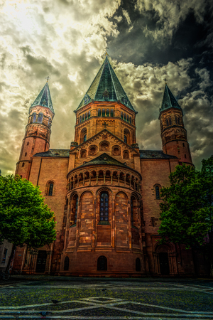 st german: St. Martins in Mainz. Germany Stock Photo