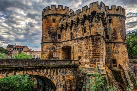 La porte de l'allemand à Metz, France Banque d'images - 87491280