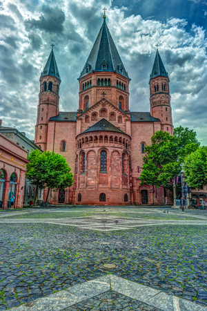 St. Martins in Mainz. Germany Stock Photo