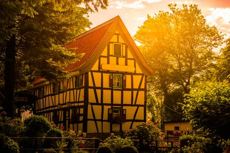 Traditional german house in Konigswinter, near Bonn, Germany.