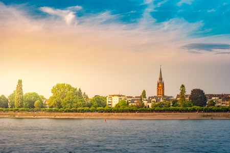 Cityscape of Bonn and river Rhine, Germany