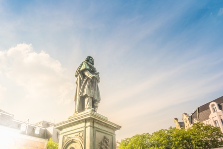 The Beethoven Monument on the in Bonn, Germany Banco de Imagens