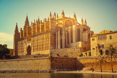 Cathedral of Palma de Mallorca. Фото со стока