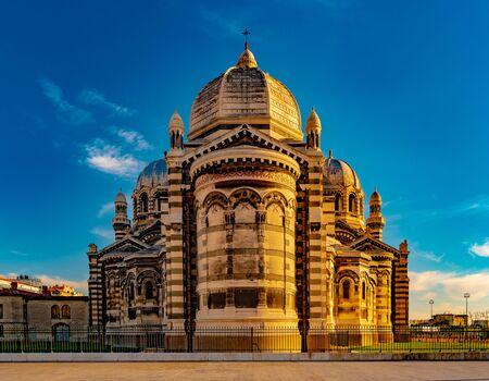 Cathedral de la Major - one of the main churches and local landmark in Marseille, France Foto de archivo