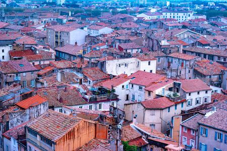 Narbonne, panoramic view of the old town in south France. View of Narbonne from the center to the North. Reklamní fotografie
