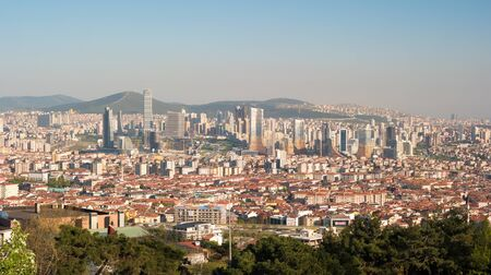 Photograph of Kadikoy and Atasehir county taken at daytime from Camlica hill, Istanbul, Turkey Reklamní fotografie