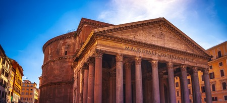 Pantheon in Rome. One of the main landmarks in Europe. Rome, Italy.
