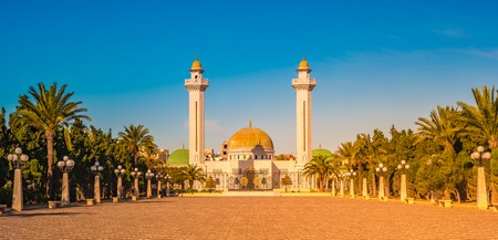 Mausoleum of Habib Bourgiba, the first President of the Republic of Tunisia. Monastir