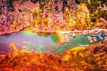Calanque Sugiton at les Calanques national park near Marseille in France