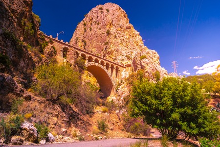 Caminito del Rey, Spain Royal Trail also known as El Caminito Del Rey - mountain path along steep cliffs in gorge Chorro, Andalusia, Spain, Europe Reklamní fotografie