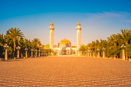Mausoleum of Habib Bourgiba, the first President of the Republic of Tunisia. Monastir