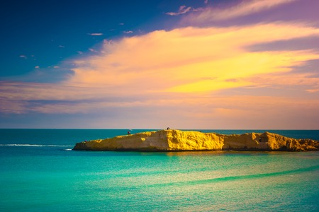 View of the Mediterranean Sea. Monastir. Tunisia. Panoramic view of the city and the coast opens from the observation tower Ribat Reklamní fotografie