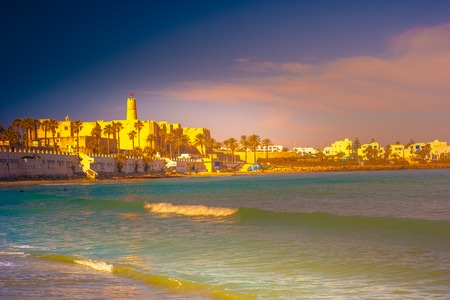 Monastir in Tunisia is an ancient city and popular tourist destination with a beach on the Mediterranean Sea. Фото со стока
