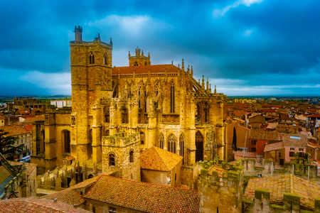 Gothic Cathedral of Narbonne, city in the south of France. Banco de Imagens