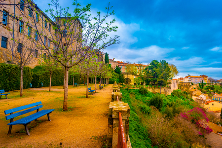 The archbishops garden at the Cathedral of Saint Nazaire in Beziers, South France.