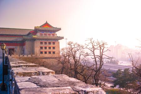 View of Dongbianmen Waich Tower in Beijing, China.